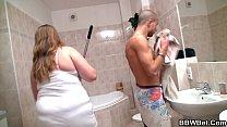 Big belly girlfriend is banged in the bathroom pornhub video