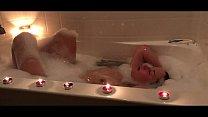 Teen Catherine Grey takes bubble bath