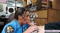 Police officer shows off ass and pounded