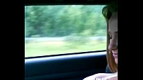Hot French-Canadian girl stripping in the CAR Preview