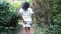 Ebony babe Mels teasing public flashing and out...