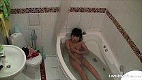 Bathtub masturbation of the breathtaking Asian girl