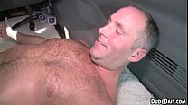 This sexy older hunk gets his ass fucked for the first time pornhub video