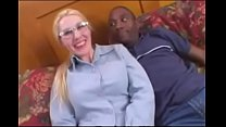Blonde Amateur Librarian takes a Black Cock stu...
