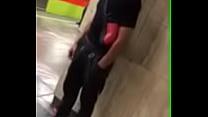 Novinho de pau duro no metro Image