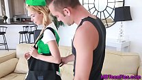 Creampie wanting teen scout fingered