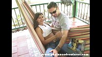 Pacinos Adventures - Sandra Moreno riding on a fat dick