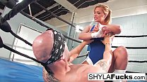 Sexy Shyla Styl ez gets some lessons on MMA tr ssons on MMA training but then g