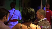 10319 Tania greatly fucks two guys in a bar while everyone watches and get horny preview