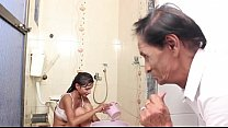 Hot Baby Bathing and sex with Father in law video