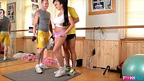 Busty Slovakian Vixen Drains two cocks at the Gym - 9Club.Top
