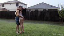 Romantic sex under a storm in Texas preview image