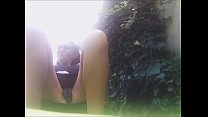 OUTDOOR PLESURE AND WET PUSSY! pee underneath into my leggins in a public park