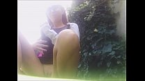 OUTDOOR PLESURE AND WET PUSSY! pee underneath into my leggins in a public park صورة