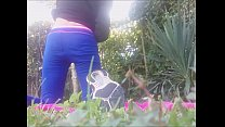 13541 OUTDOOR PLESURE AND WET PUSSY! pee underneath into my leggins in a public park preview