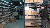 Busty french mature anal pounded hard in a warehouse with sexy lingerie thumbnail