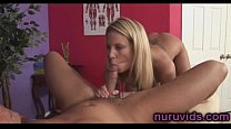Cute blonde Kiara Diane gives awesome blowjob: tiny ebony pussy thumbnail