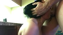 Teen Whore Brutally Throat Fucked & Used by Daddy thumbnail