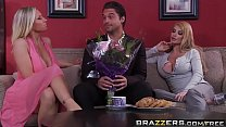 Brazzers - Mommy Got Boobs - Mommy Sandwich scene starring Devon Lee, Taylor Wane and Rocco Reed Image