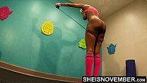 13362 4K Msnovember Horny Old Coach Made Cute Little Ebony Spinner Jump Rope Naked In His Gym , Large Natural Saggy Busty Breasts , Dark Puffy Nipples , And Big Areolas Bouncing While Working Out Her Slim Ass And Petite Thighs HD Sheisnovember preview