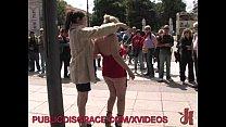 Blonde gets fucked in public