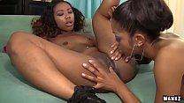 WANKZ- Sexy Black Girls Lotus and Chanell Heart Lez Out video