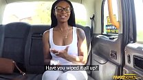 Ebony Lola Marie Takes A Large Dick In The Taxi