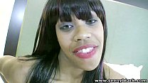 TeenyBlack Queen V is an ebony teen with big luscious lips getting banged