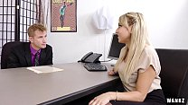 Juicy Ass Blond Secretary Valerie Exploited By ...