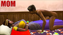 Indian Mom And Son   Visits Mother In Her Room