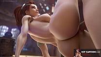 Overwatch compilation of hot cartoon porn with big ass milf anal sex