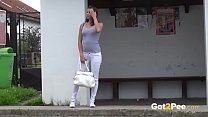 Victoria Peeing At The Bus Stop thumbnail