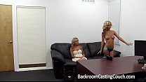 2 Hot Blonde Girlfriends Walk In To An Office... Preview