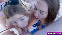 Blair Williams and her friends Vienna and Zoey cock feeding!