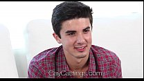 HD - GayCastings Amateur guy takes first big di...