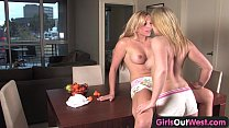 Girls Out West - Blonde Australian lesbians loving 69