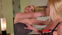 Big tits of Donna Bell & Chessie Kay splashed w...
