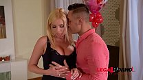 Big tits of Donna Bell & Chessie Kay splashed with cum on Valentine's Day GP492