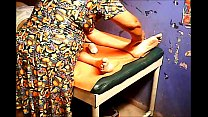 Image: Grandma massages balls