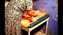 Grandma massages balls