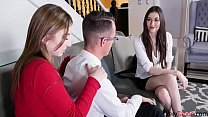 MILF makes sure her son gets along with his sis-