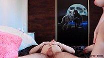 Teen Natural Tits Cowgirl on Big Dick - Cum on Big Tits - Shinaryen صورة