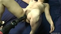 drilling her wet pussy with a dildo drill like a madman - zoey foxx anal thumbnail