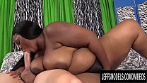 Sexy Ebony BBW Olivia Leigh Takes a Long White Cock in Her Mouth and Pussy pornhub video