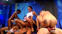 Ebony babe Zara Skinny Aymie and Mia Bitch in h...