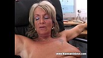 Blonde Mature Office Boss Anal Fucked By Applicant image