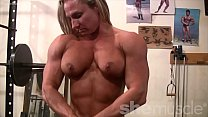 Topless Female Bodybuilder With Amazing Physiqu...