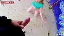 LETSDOEIT - Blonde Russian Teen Takes A Big Cock Outdoors (Daniella Margot) - 9Club.Top