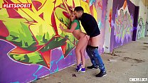 LETSDOEIT - Blonde Russian Teen Takes A Big Cock Outdoors (Daniella Margot)
