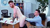 FistingCentral -  The Boss Is Riding My Ass Hard